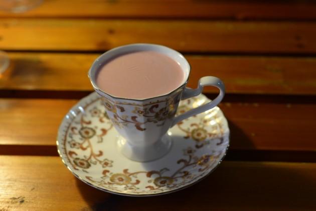 法國紅絲絨有機甜菜根經典熱奶茶@松露廚房