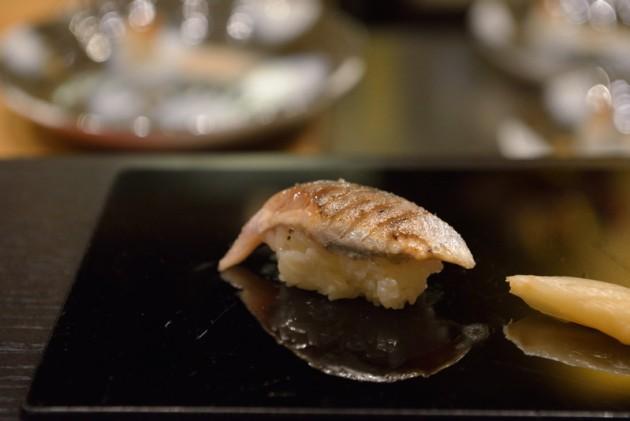 日本秋刀魚握壽司@旨味料理