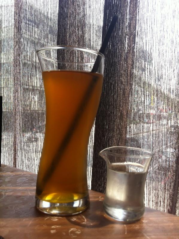 冰綠茶@洛義 義式料理2F