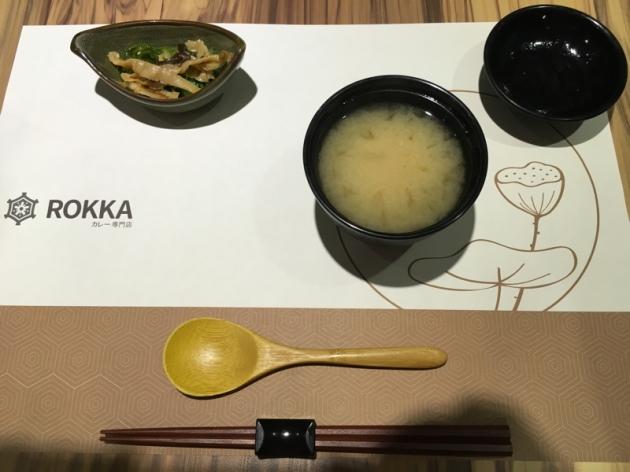 小菜+味噌湯@庵六花