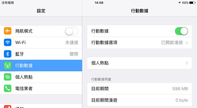 STUDIO A x 日本2.2GB Lite上網卡的使用量598 MB