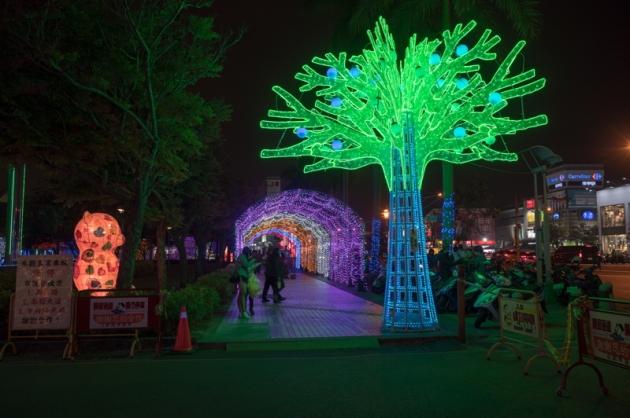 珊瑚樹燈+燈廊